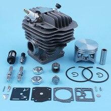 Pièces de rechange pour Valve de décompression, Piston de cylindre de 50mm, Kit de réparation de Carb de 12mm pour Stihl MS440 044 MS 440