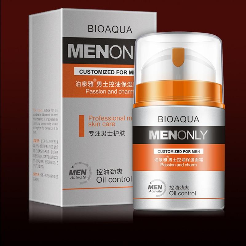 BIOAQUA cuidado de la piel crema facial hidratante profunda para hombres, crema blanqueadora de día hidratante antiarrugas 50g