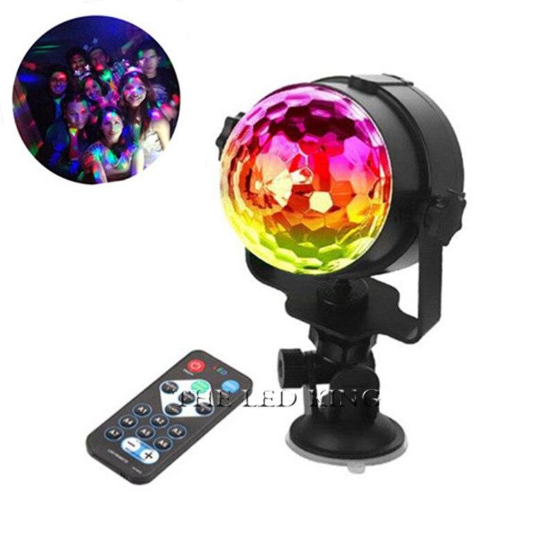 IR Remote Mini USB 5V RGB 6W 9W LED Kristall Magic Ball Bühne Effekt Beleuchtung Lampe Lampe Partei disco Club DJ Licht Zeigen Lumiere