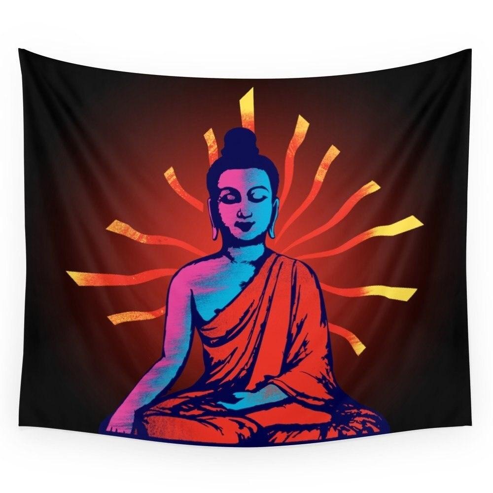Tapiz de pared de Buda, regalo de boda, colcha, toalla de playa, alfombra pícnic de yoga
