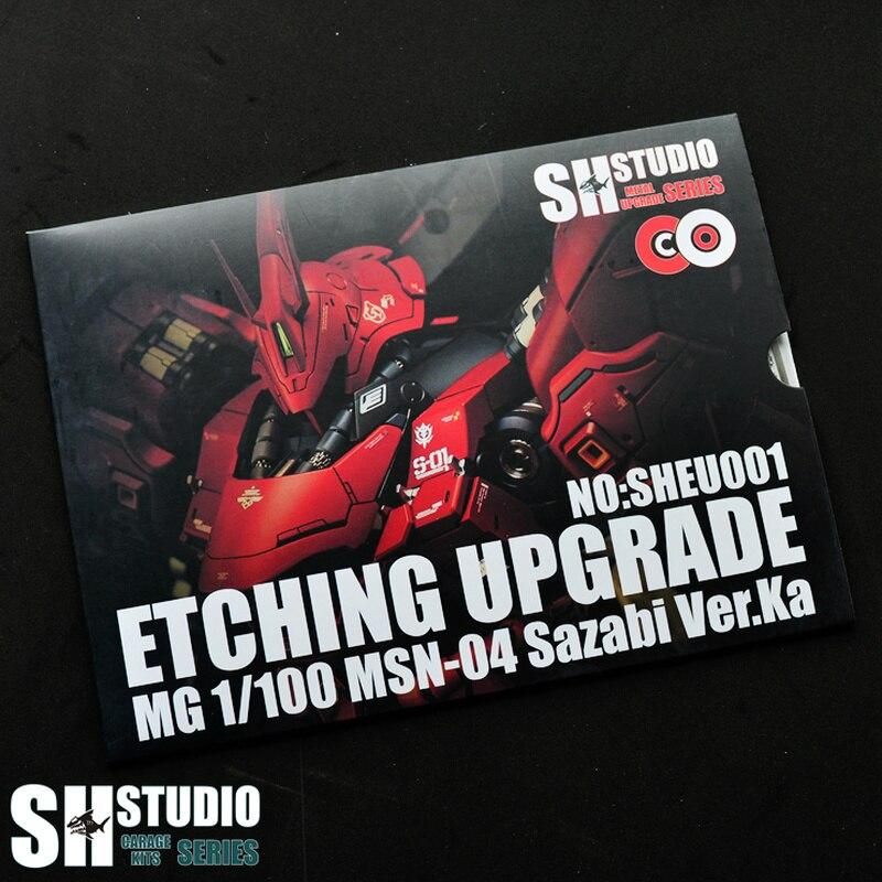 Sh-studio 1/100 MG SAZABI Ver. Ka Kasha Sharjah, специальный металлический лист для травления, экшн-фигурка, Детали модели, ремонт