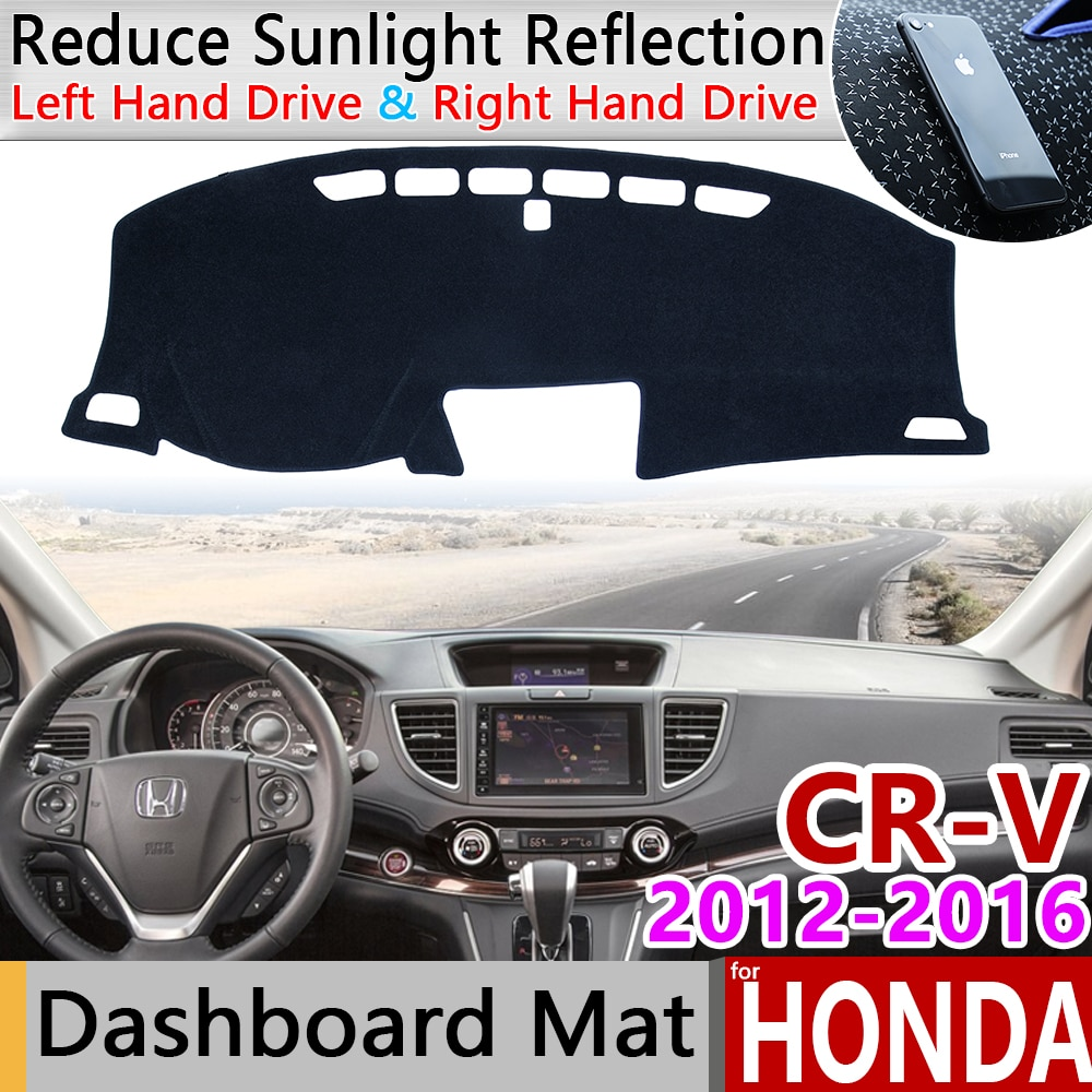 Para Honda CR-V RM1 RM3 RM4 2012, 2013, 2014, 2015, 2016 Anti-Slip Mat panel de cubierta sombrilla salpicadero alfombra accesorios CR V CRV