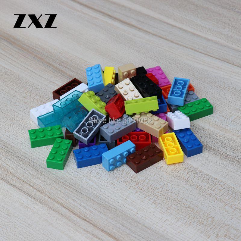 2X4 bloques de plástico 3001 DIY juguetes educativos para niños y niñas regalos 500 Uds figuras de bloques de construcción piezas de ladrillo
