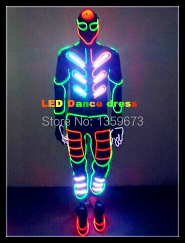 DHL Shipping 2016 New LED Ballroom Dance Dress/ EL Cold Light Clothing /Costume Dancer /America's Got Talent Performance Dresses