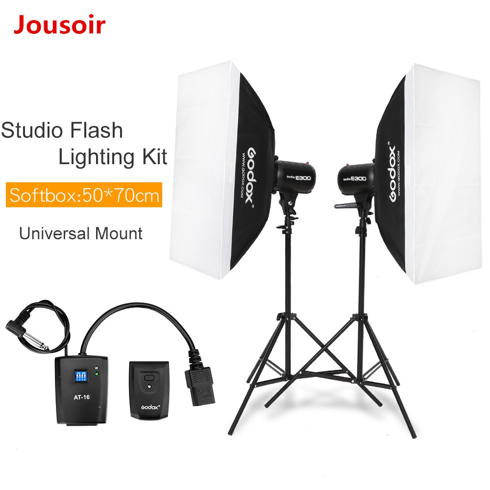 600Ws Godox estroboscópico estudio Kit de luz flash 600 W-Iluminación fotográfica-Strobes, soportes de luz, disparadores, Soft Box CD50