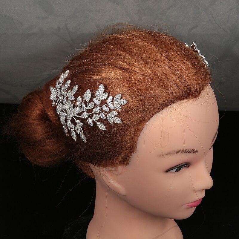 التيجان والتيجان HADIYANA العصرية الجميلة زهرة ليف تصميم أنيق للنساء الفاخرة عالية الجودة BC4763 Haar حريري Bruiloft