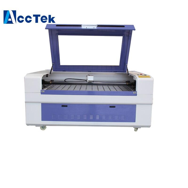 Jinan AccTek preço de fábrica 1300*900mm tamanho grande 100 w co2 máquina de marcação a laser para a madeira, plástico, acrílico EZCAD software