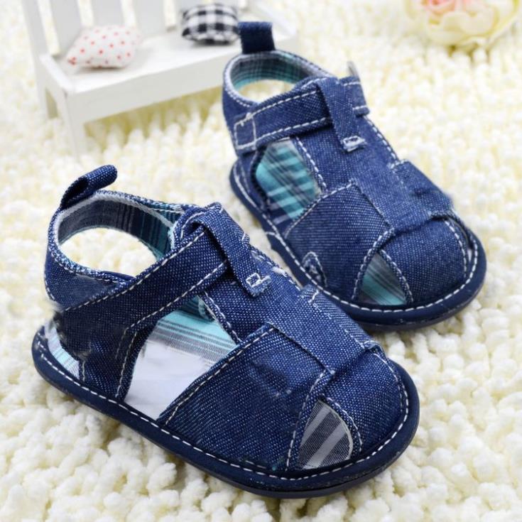 Zapatos de bebé niño azul Jeans bebé sandalia zapatos de bebé niños zapatos de moda Casual