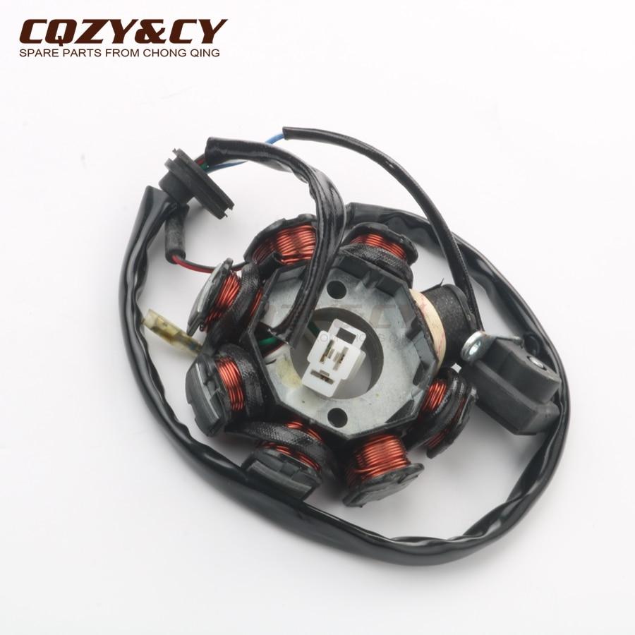 Scooter de encendido del estator 8 bobinas para GY6 50cc 139QMA 139QMB de 4 tiempos
