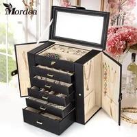 mordoa jewelry display watch box jewelry necklace earrings rings pendant high end european retro princess box makeup organizer