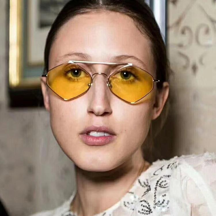 small sun glasses for women men retro square sunglasses gradient clear lens metal frame black red ga