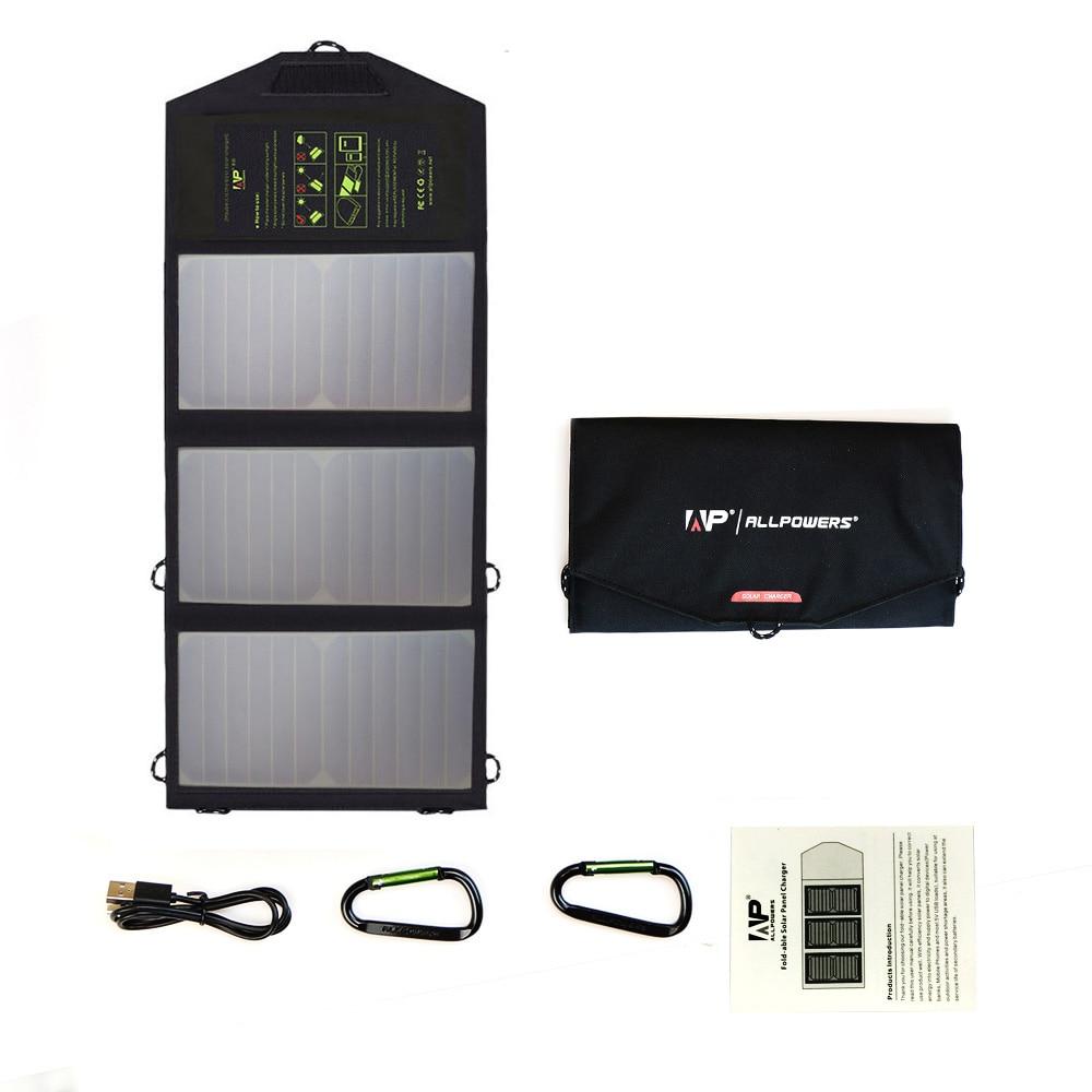 Солнечное зарядное устройство 21 Вт двойной USB быстрая зарядка для iPhone 6 7 8 X Xr Xs max iPhone 11 Pro iPad Huawei Mate20 MIX Samsung Galaxy и т. Д.