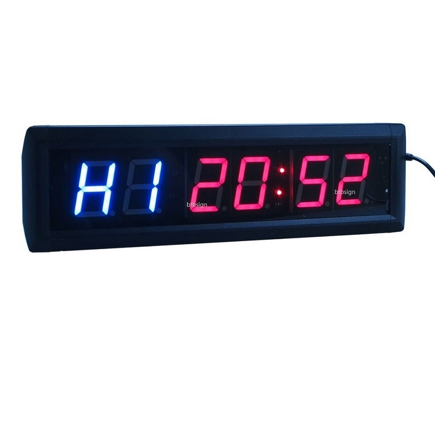 1.8 6Digit LED Interval Clock Multifunctional CrossFit Timer Programmable LED Interval Timer For EMOM Tabata