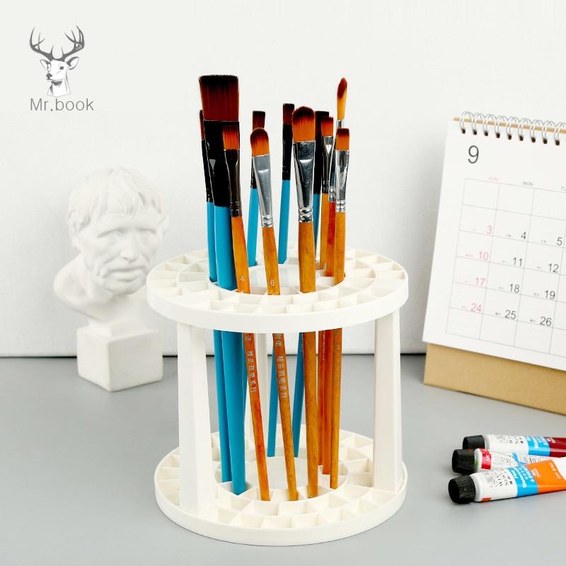 Portalápices de pincel de pintura desmontable 49 agujeros pincel de dibujo soporte de exhibición soporte pincel para pintar titular para suministros de arte