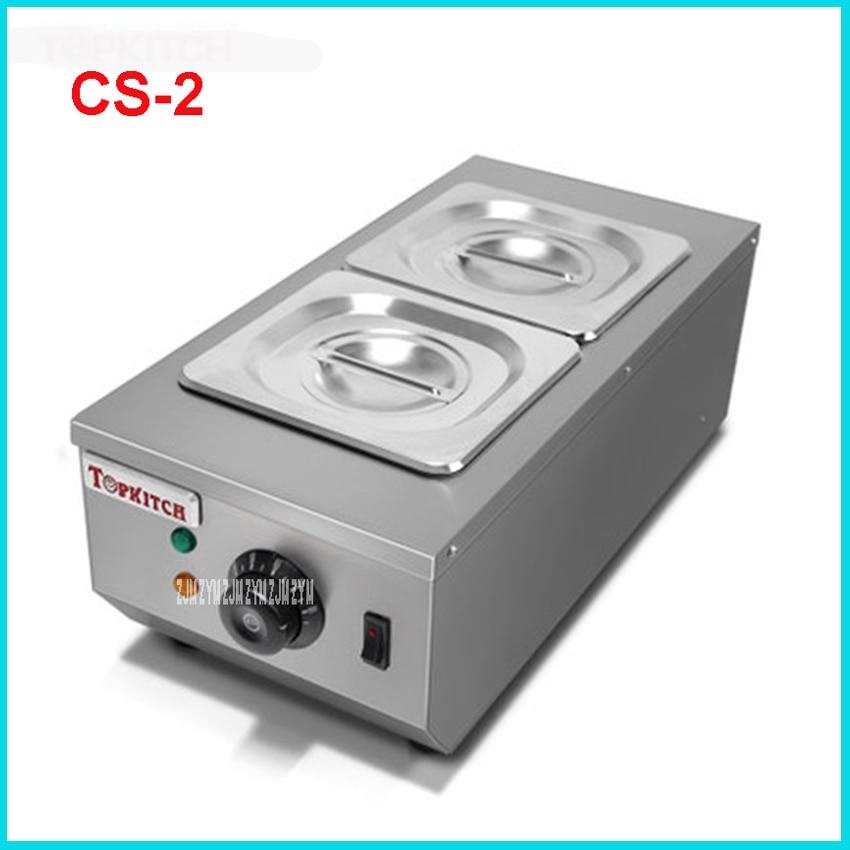 CS-2 comercial 2 olla máquina de fundir chocolate crisol de chocolate eléctrico doméstica máquina de fundir chocolate 2 * 2L capacidad de 220V