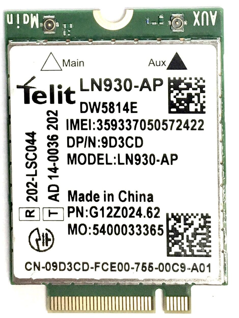 wireless card for Dell Dw5814E p/n XFVM5 0XFVM5 LN930-AP WWAN 4G NGFF CARD Latitude 14 7480 5480