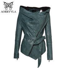 AORRYVLA 2020 nouveau printemps femmes veste en cuir mince à capuche manches courtes décontracté noir Faux cuir veste avec ceinture
