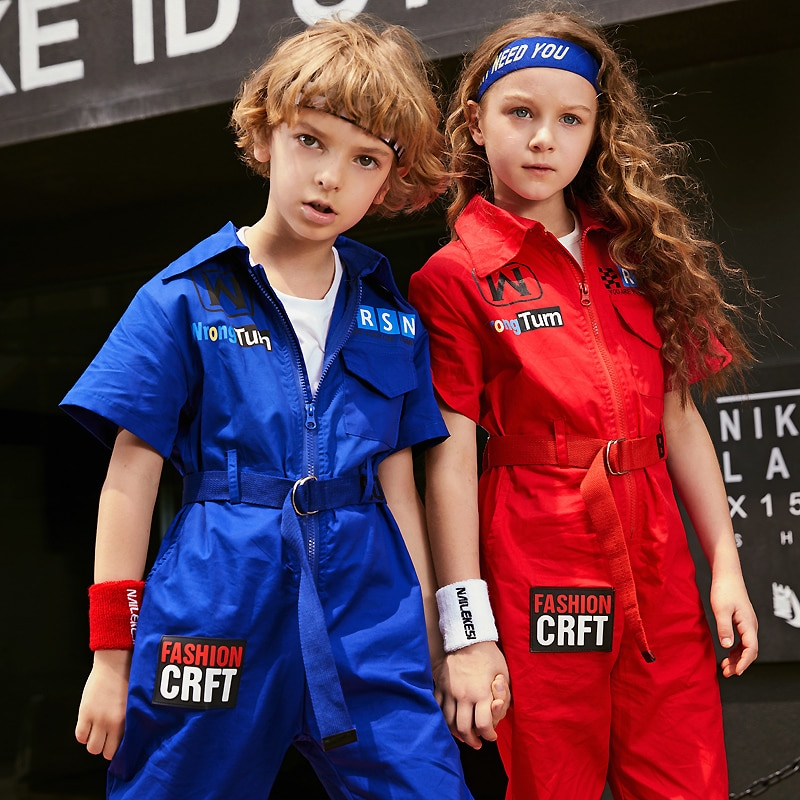 Girls Jazz Modern Dancing Costumes Clothing Suits Kids Children Hip Hop Dance wear Outfits Stage Cos