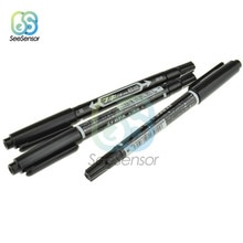 10Pcs PCB Circuit Board Ink Marker Double Pen Waterproof CCL Anti-etching Repair CCL Printed Circuit Diagram for DIY PCB Board