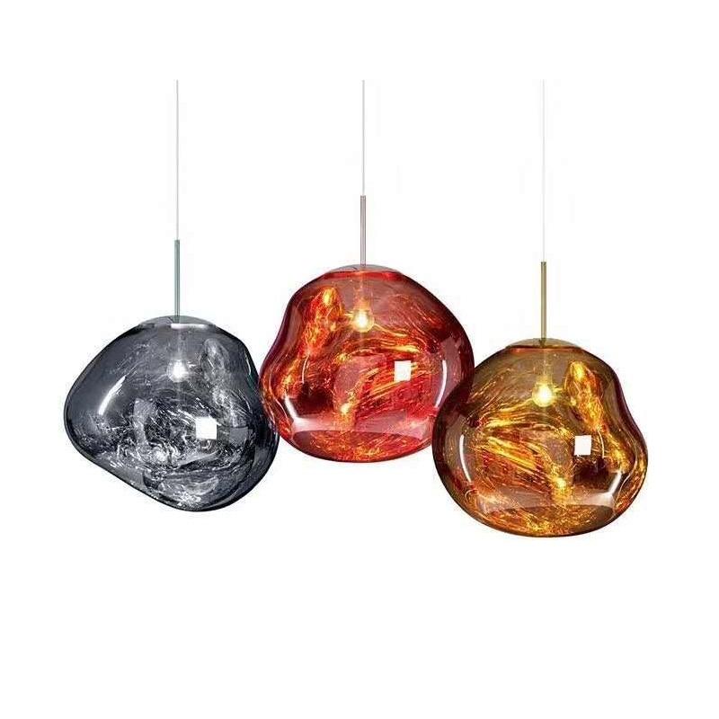 JW Glass Led Pendant Lamp Lights Hanging Lamp Melt Lava Light Fixture Modern Hanging Ceiling Lamps Chandelier Lighting