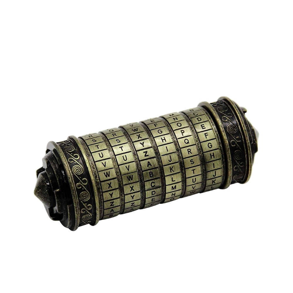 DaVinci кодовый замок металлический алфавитный замок для свадебного кольца подарок на день Святого Валентина Декор пароль Комбинация цилиндров замок с буквами