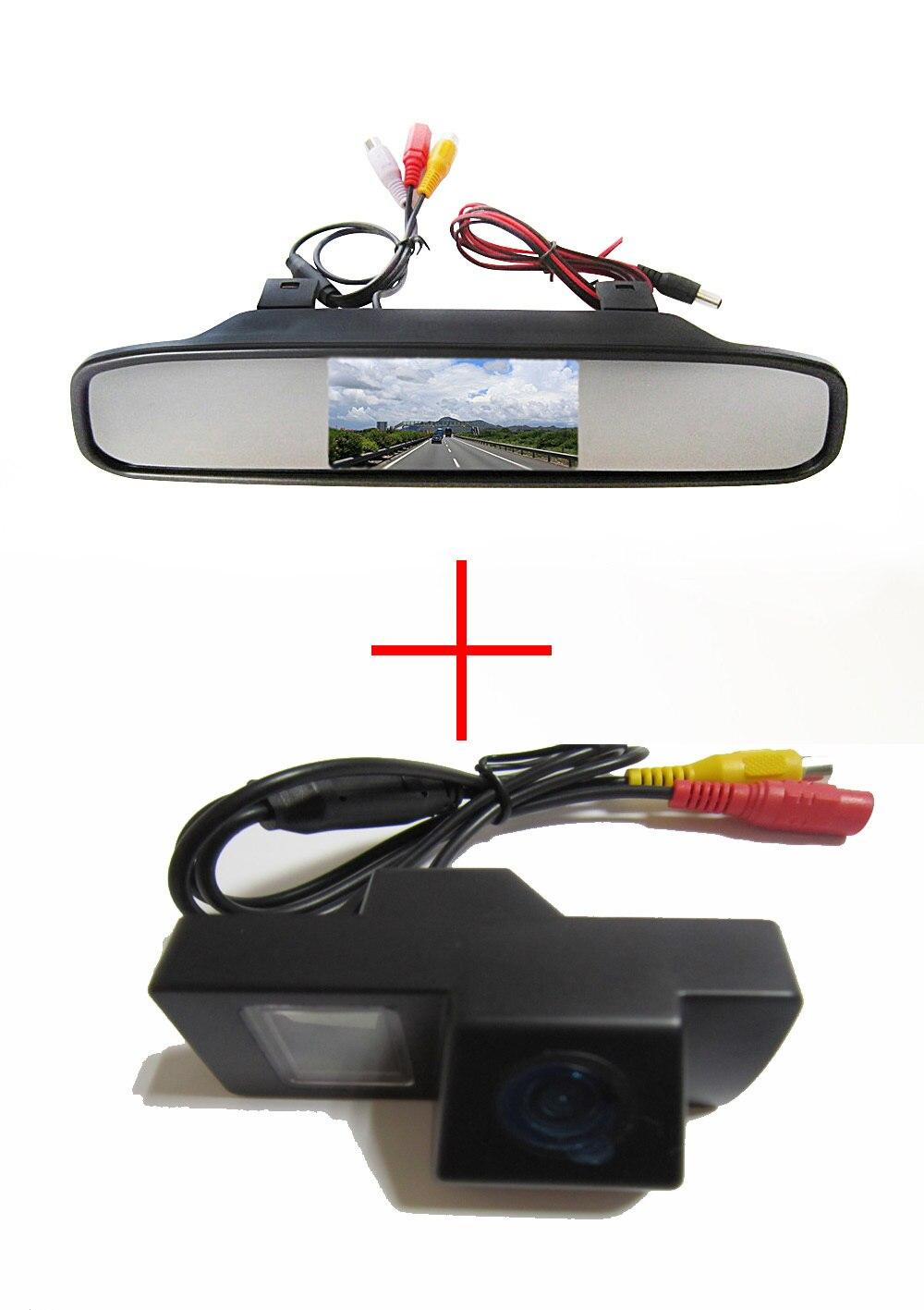 Cámara CCD a color de Vista trasera de coche inalámbrica para TOYOTA LAND CRUISER 200 LC200/Toyota REIZ 2009, con monitor de espejo retrovisor de 4,3 pulgadas