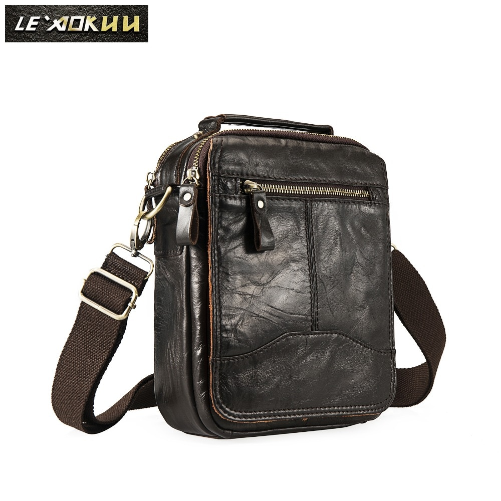 Quality Leather Male Casual Design School Shoulder Messenger Crossbody bag Fashion College Tote Moch