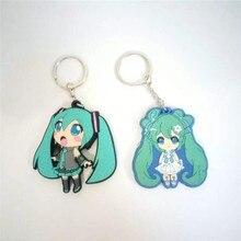 Japon Anime chiffres jouets Hatsune Miku PVC porte-clés porte-clés pendentifs poupées enfants amis cadeau promotionnel 2 côtés