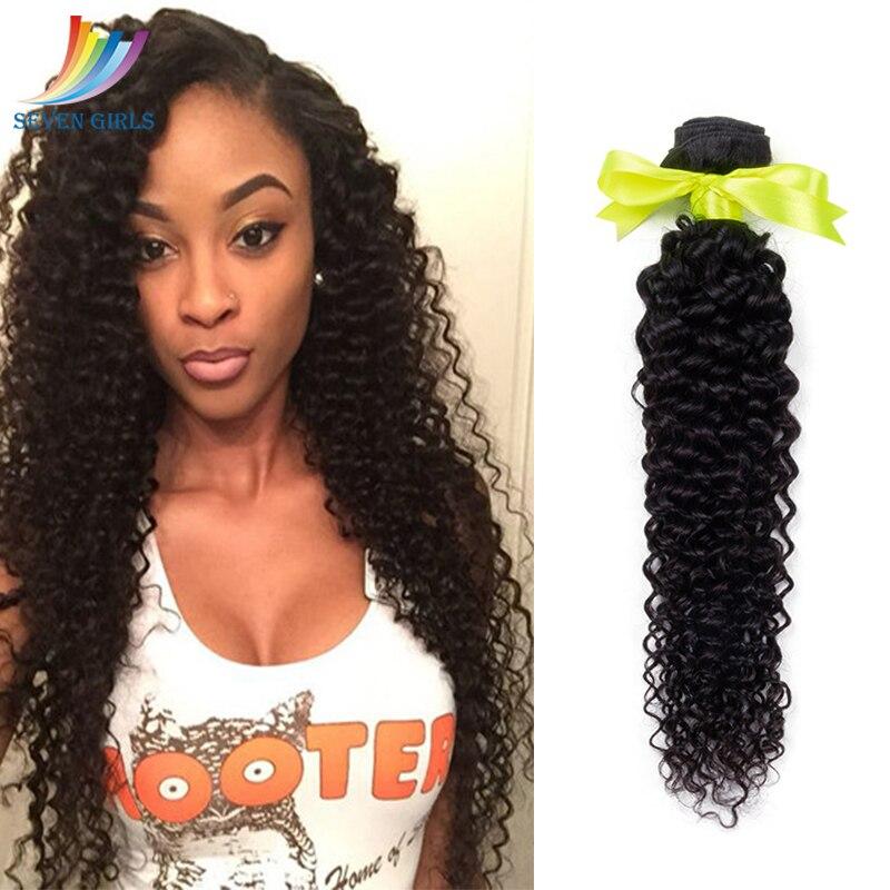 Sevengirls Deep Curly 10-30 Inch Human Hair Weaving Brazilian Virgin Hair Bundle Deals For Black Woman 30 Inch Bundles Available