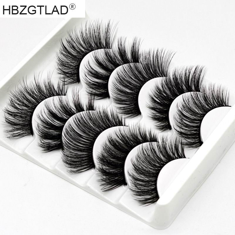 2019 NEW 5 Pairs 3D Thick Long False Eyelashes Fluffy Wispy Natural Lashes Extension Fashion Women E