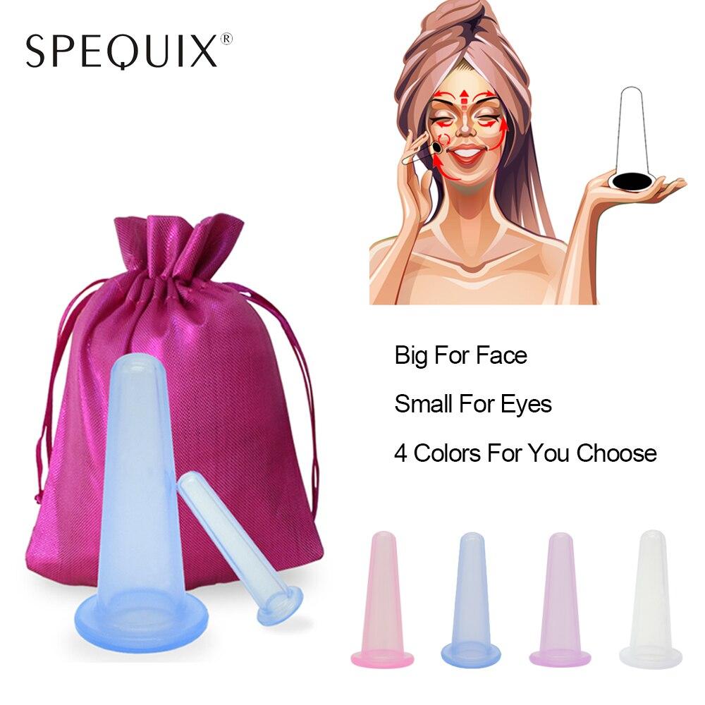 SPEQUIX tasse de soins de santé, tasse de Massage pour le corps, Anti-vieillissement, pour le dos, pour le cou, le visage, sous vide, 2 pièces/sac, nouvelle collection 2018