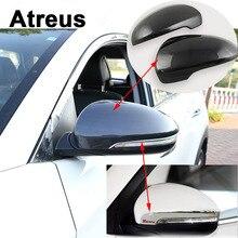 Atreus 2pcs Car Accessories ABS For Hyundai Tucson 2017 2016 2015 Rearview Mirror Frame Trim Decoration Sequins Stickers Covers