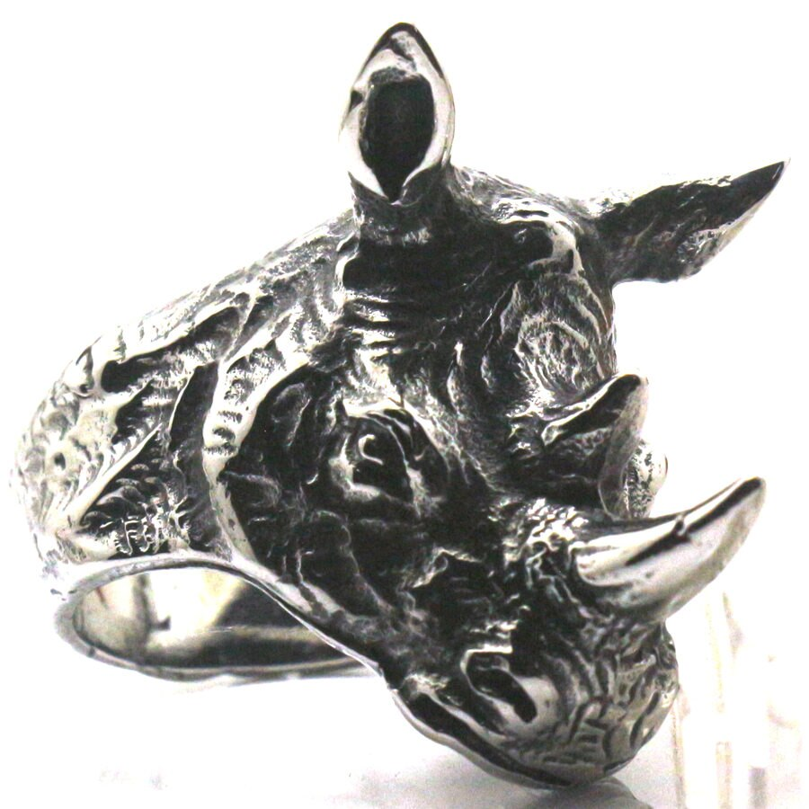 Männer Jungen 316L Edelstahl Tier Rhinoceros Coole Party Ring Wilden Krieger Freies Verschiffen