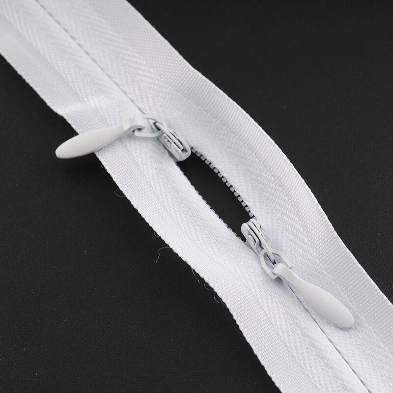 Cremalleras para costura invisible de dos cabezales cremallera para ropa de lactancia No. 3 tela de nailon suave alimentación de bebé FC156
