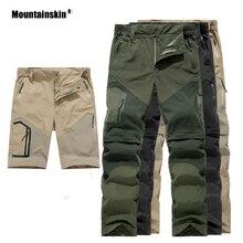 Alpinskin hommes été séchage rapide pantalon amovible pantalon respirant Sports de plein air randonnée Trekking pêche mâle Shorts VA496
