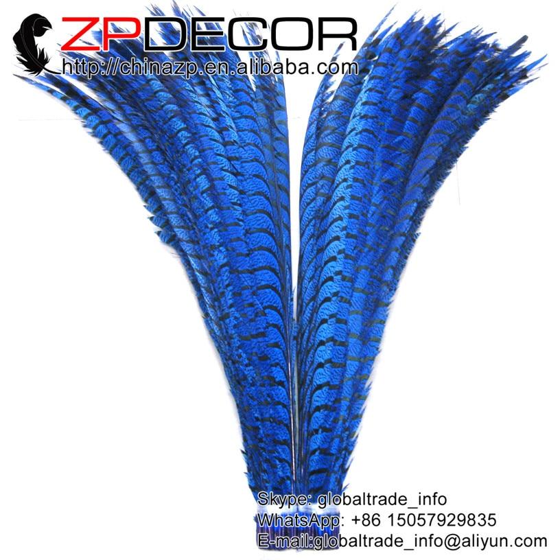 ZPDECOR 36-40 pulgadas (90-100 cm) 10 unids/lote hermoso azul señora Amherst faisán colas Super largo Centro plumas