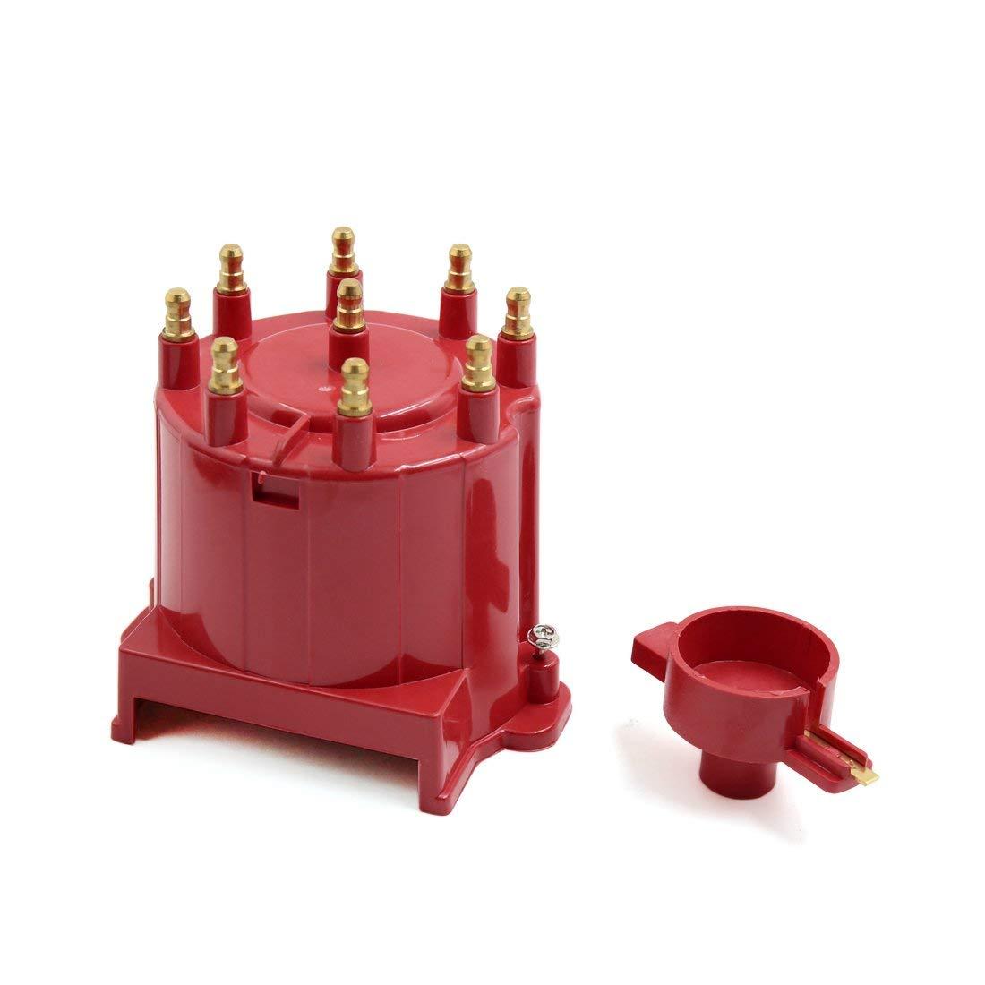 X autohaux Red 8406, tapa del distribuidor de encendido de coche y Kit de Rotor, bobina externa para C1500 C2500 C3500 GMC K1500
