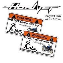 Pegatina de advertencia KODASKIN para motocicleta barata y creativa para Honda CB599 CB600 HORNET