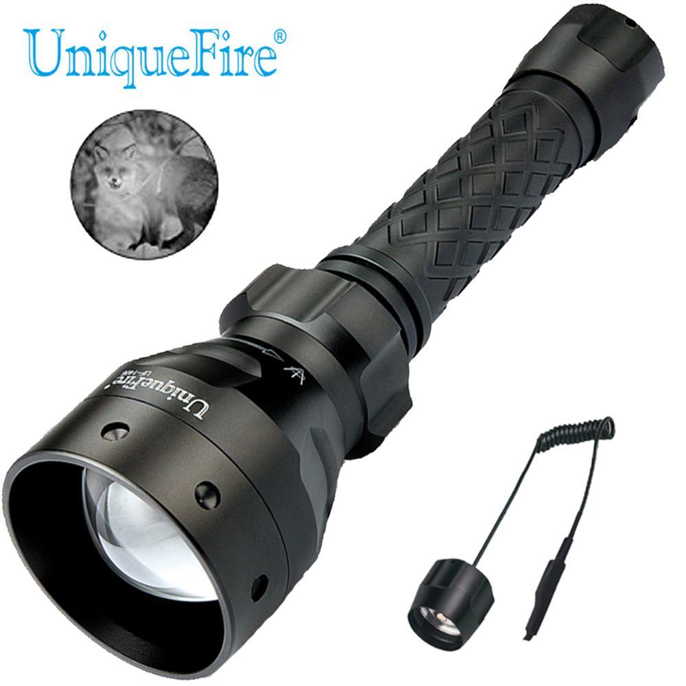 UniqueFire IR 940NM de LED de la visión nocturna linterna UF-1406 de la aleación de aluminio de la alta calidad 18650 linterna con control remoto de presión