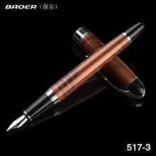 Baoer 517 0.5 millimetri inchiostro della penna pennino. Scuola di Cancelleria Per Ufficio di Apprendimento Studente Biglietto Da Visita di Metallo regalo Matite penna di Scrittura penna Stilografica