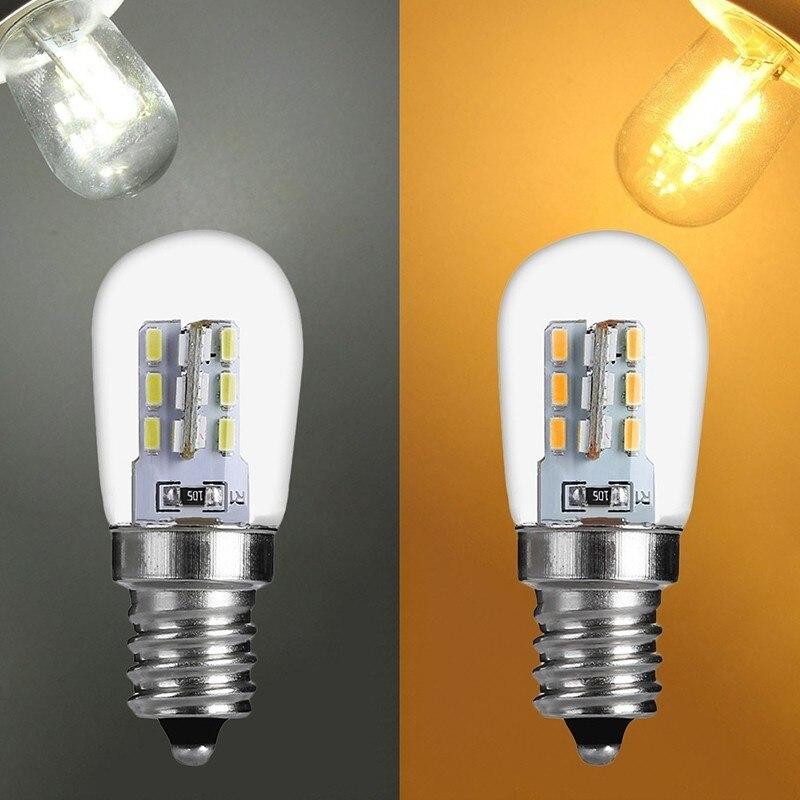 Bombilla LED E12 de 2W E12 de Alta Luz LED brillante, lámpara de sombra de cristal, iluminación blanca cálida pura para refrigerador de máquina de coser