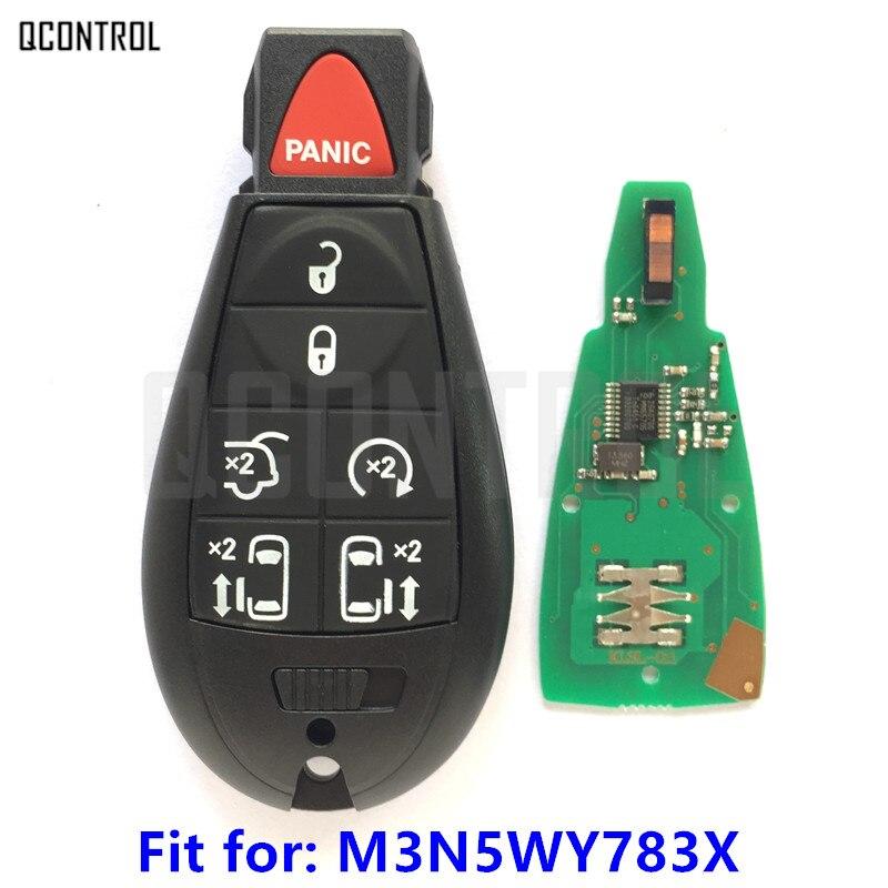 QCONTROL Del Veicolo A Distanza per JEEP Commander Grand Cherokee Smart Key 433MHz ID46 Chip M3N5WY783X o IYZ-C01C Serratura Keyless