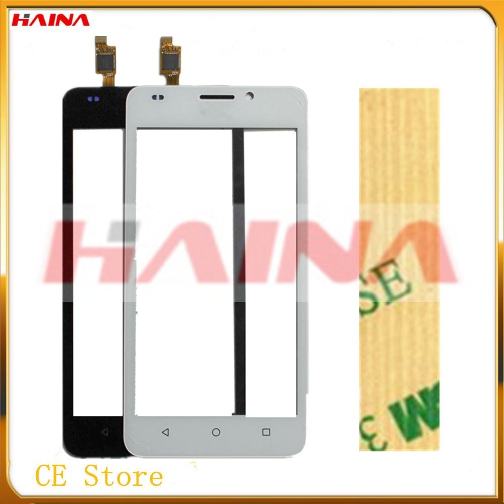 B/W color 3M cinta con pantalla táctil para Huawei Ascend Y635 Y635-L21 pantalla táctil Panel digitalizador Lente de Cristal reemplazo