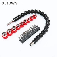 xltown the new high quality electric screwdriver accessories drill sleeve universal flexible shaft set drill bit