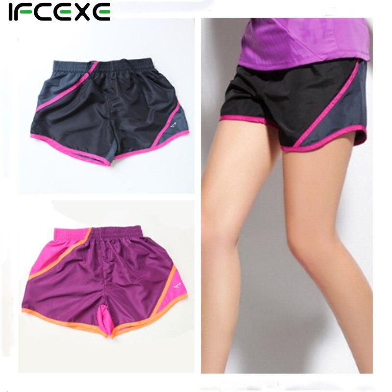 2018 Brand Summer Sports Women Shorts Leisure Elastic Waist Women Shorts Female Yo-Ga Running Short Feminino fast shipping