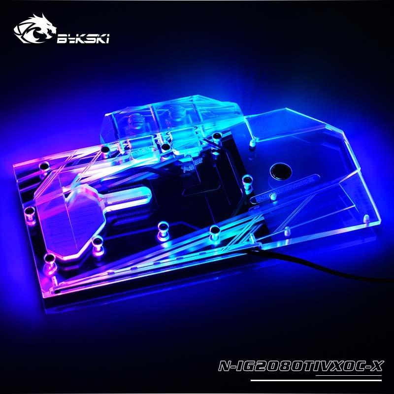 Bykski N-IG2080TIVXOC-X GPU كتلة المياه ل الملونة iGame RTX 2080Ti فولكان XOC 11G غطاء كامل بطاقة الرسومات المياه برودة