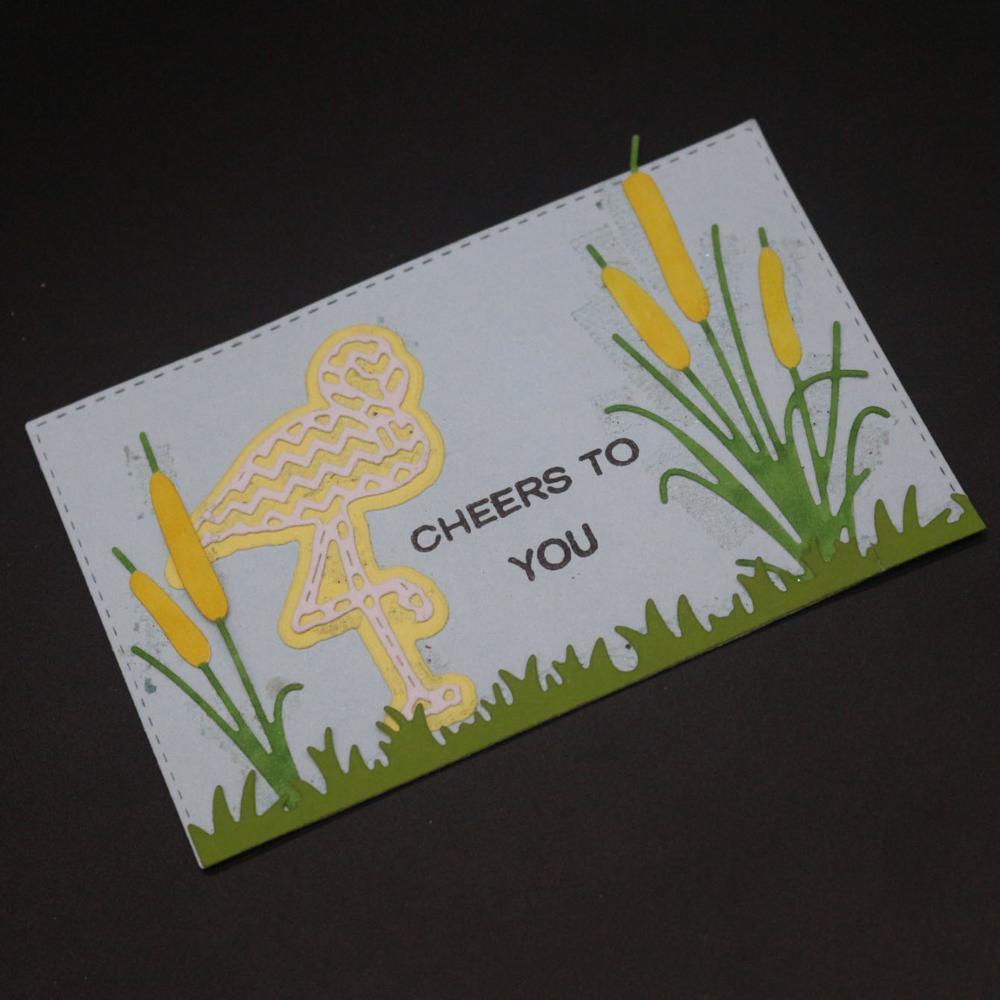 AZSG Flamingo troqueles de corte para bricolaje Scrapbooking muere decorativas en relieve de Decoative tarjetas troqueladora