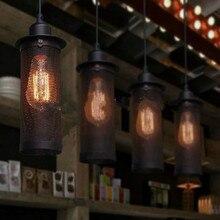 Retro Industrial Style Ceiling Haninging Lamp Light Metal Shade Edison Bulb Loft Restaurant Bar Coffee Shop Decor