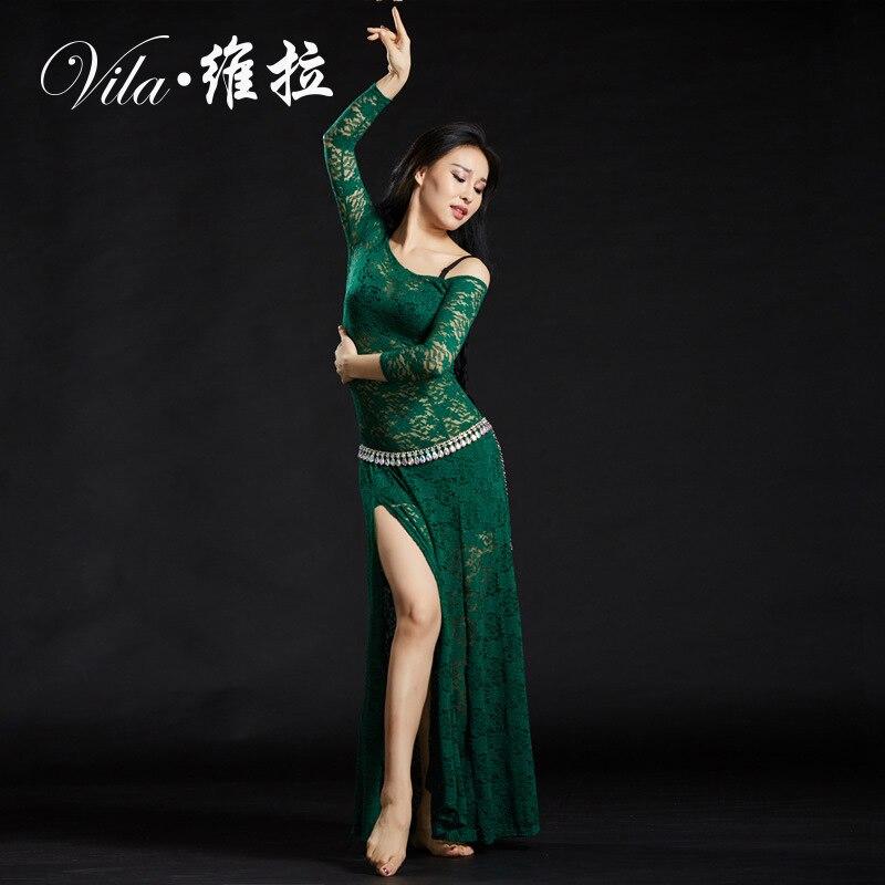 Женское кружевное платье, костюм для танца живота, 2019