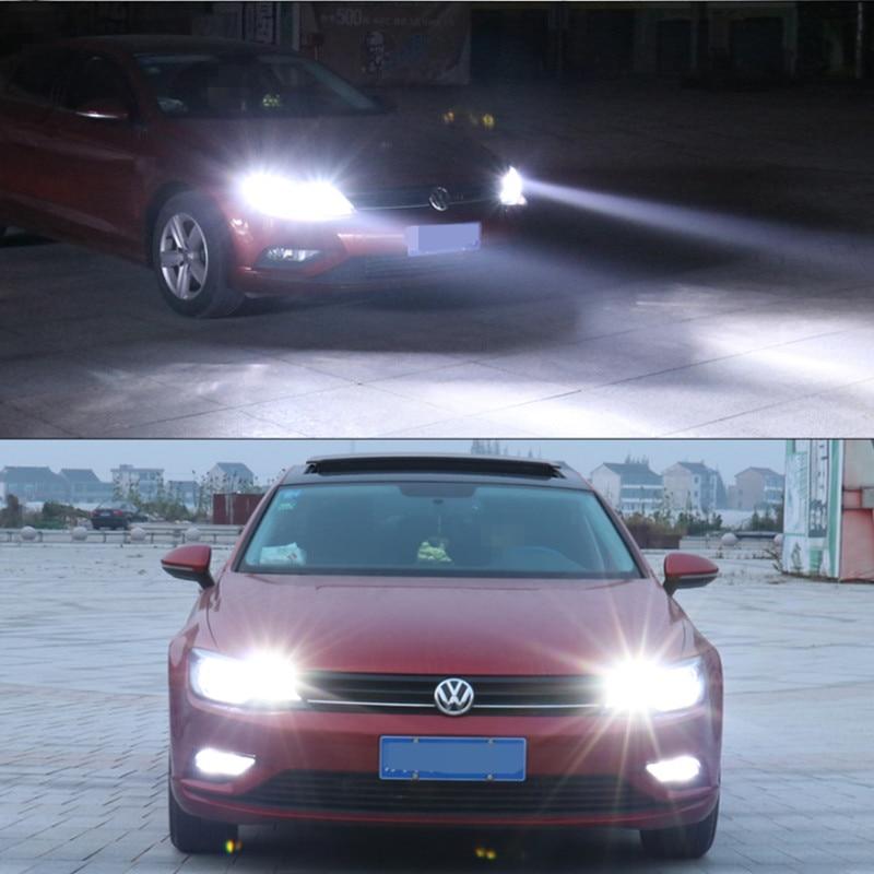 2x H8 H11 Auto bombilla para luces antiniebla LED, luz de circulación diurna para VW Touareg Passat B5 Jetta Golf 6 7 5 4 Beetle Touran Polo